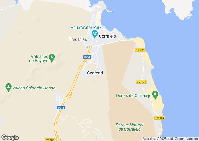 Map for Corralejo, Fuerteventura, Spain