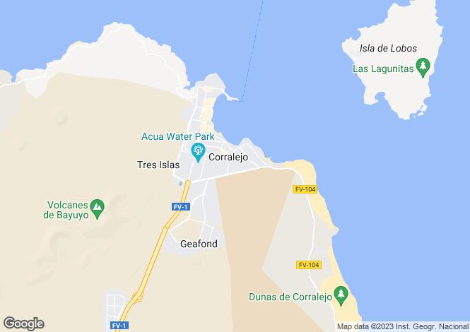 Map for Corralejo, Fuerteventura, Canary Islands