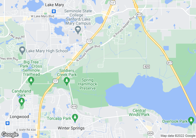 Map for Florida, Seminole County, Sanford