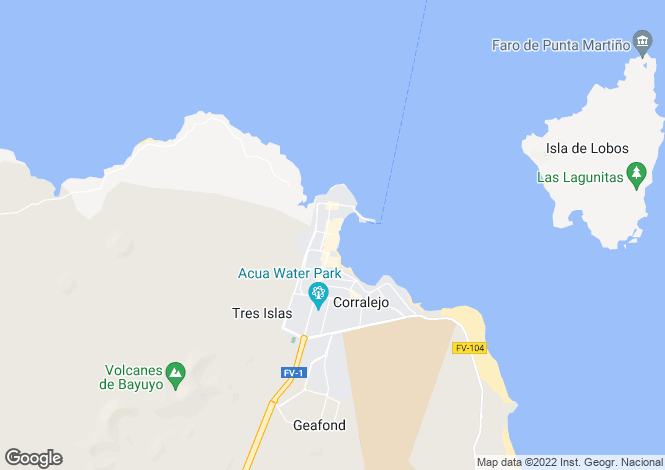Map for Corralejo, Fuerteventura, Spain