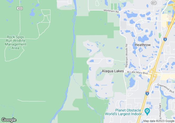 Map for Florida, Seminole County, Lake Mary