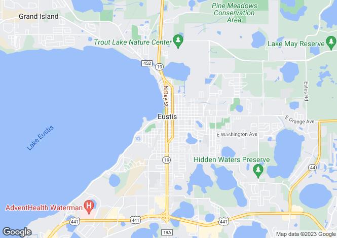 Map for Eustis, Lake County, Florida