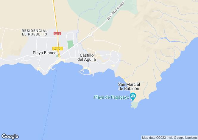 Map for Playa Blanca, Lanzarote, Spain