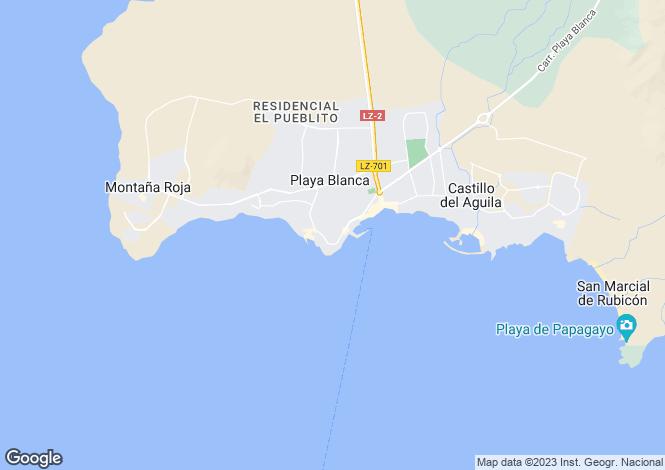 Map for Canary Islands, Lanzarote, Playa Blanca