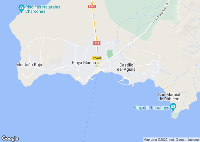 Map for Playa Blanca, Lanzarote, Spain