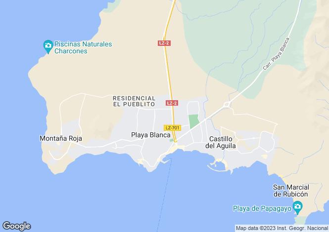 Map for Playa Blanca, Lanzarote, Canary Islands
