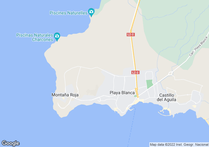 Map for Canary Islands, Lanzarote, Playa Blanca