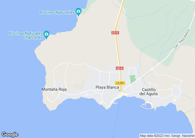 Map for Playa Blanca, Lanzarote, Canary Islands