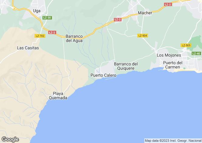Map for Canary Islands, Lanzarote, Yaiza