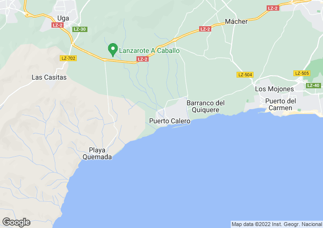 Map for Puerto Calero, Lanzarote, Canary Islands