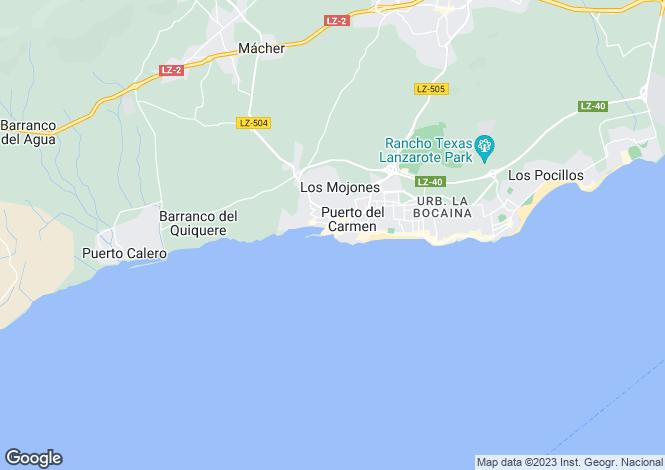Map for Canary Islands, Lanzarote, Matagorda