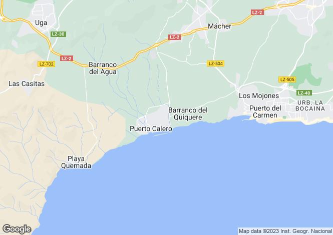 Map for Canary Islands, Lanzarote, Puerto Calero