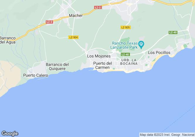 Map for Canary Islands, Lanzarote, Puerto del Carmen