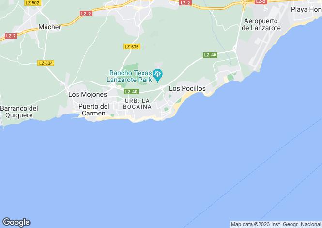 Map for Puerto del Carmen, Lanzarote, Canary Islands