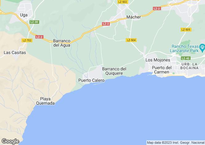 Map for Puerto Calero, Lanzarote, Spain