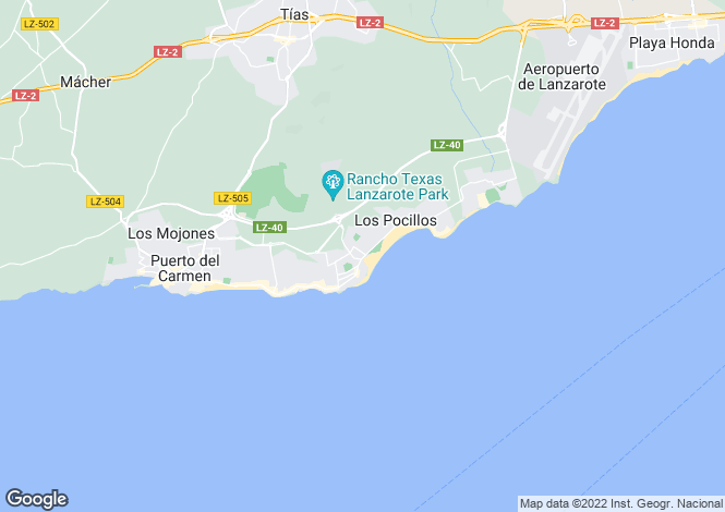 Map for Canary Islands, Lanzarote, Puerto del Carmen