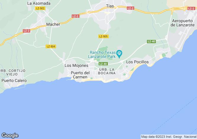 Map for Puerto Del Carmen, Lanzarote, Spain
