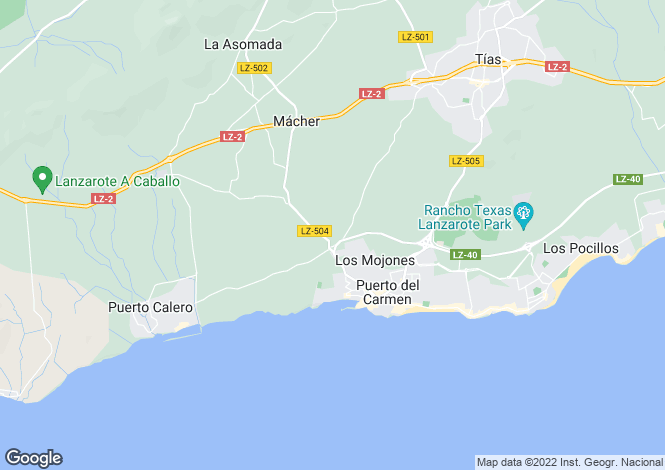 Map for Canary Islands, Lanzarote, Macher