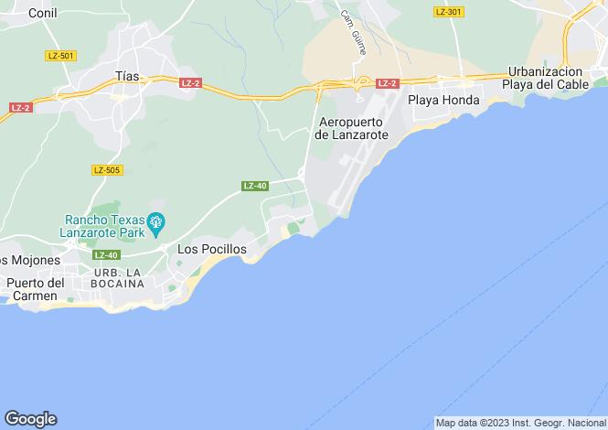 Map for Matagorda, Lanzarote, Canary Islands