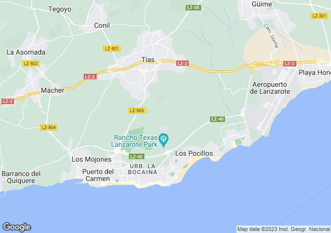 Map for Tias, Lanzarote, Canary Islands