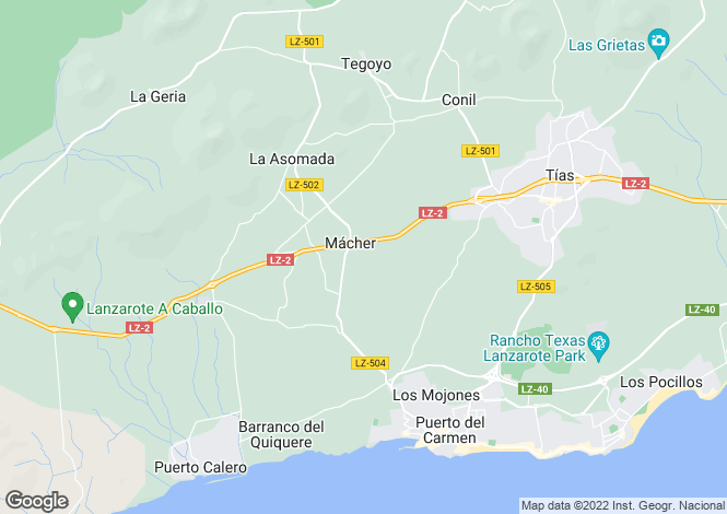 Map for Macher, Lanzarote, Spain