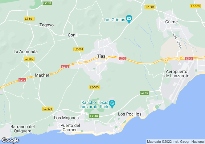 Map for Puerto del Carmen, Lanzarote, Canary Islands