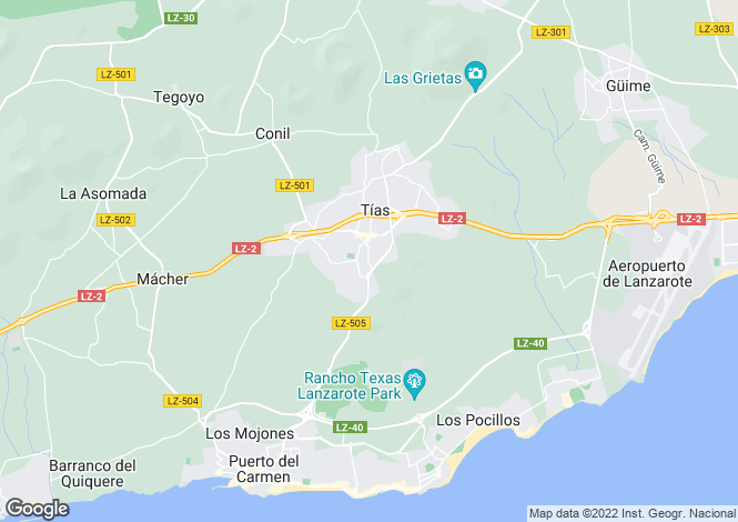 Map for Tias, Lanzarote, Canary Islands