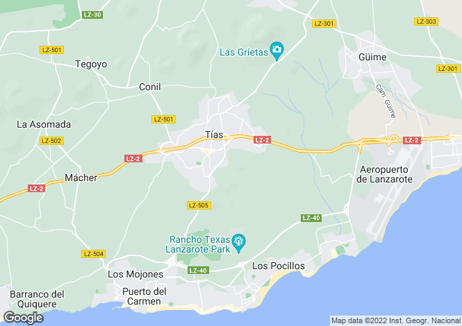 Map for Canary Islands, Lanzarote, Guime
