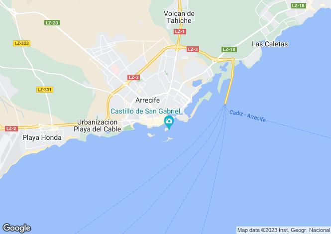 Map for Arrecife, Lanzarote, Canary Islands
