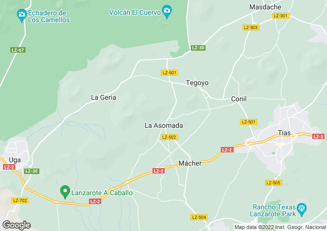 Map for La Asomada, Lanzarote, Canary Islands