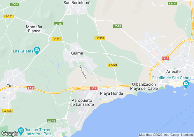 Map for Guime, Lanzarote, Canary Islands