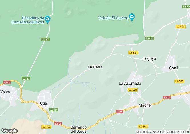 Map for Yaiza, Lanzarote, Spain