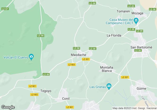 Map for Masdache, Lanzarote, Canary Islands