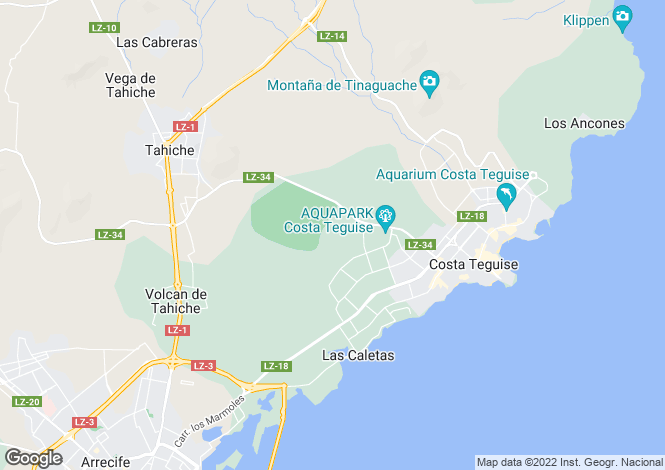 Map for Costa Teguise, Las Palmas, Spain