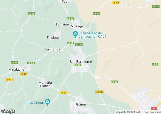 Map for San Bartolome, Lanzarote, Canary Islands