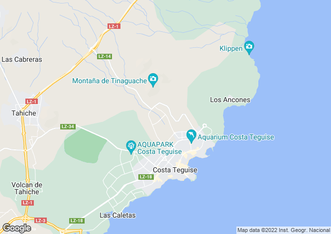 Map for Costa Teguise, Lanzarote, Canary Islands