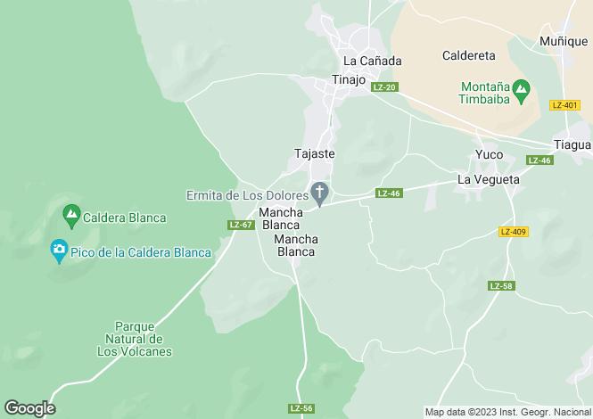 Map for Tinajo, Lanzarote, Canary Islands