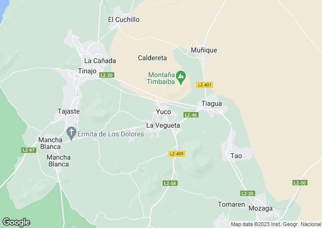 Map for La Vegueta, Lanzarote, Canary Islands