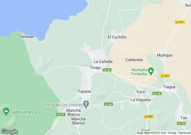 Map for Tinajo, Lanzarote, Spain