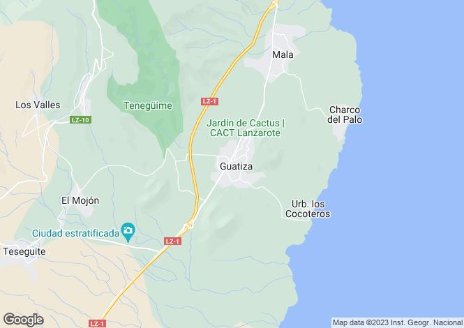 Map for Canary Islands, Lanzarote, Guatiza
