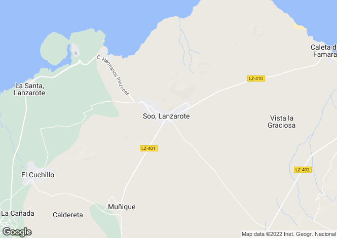 Map for Canary Islands, Lanzarote, Soo
