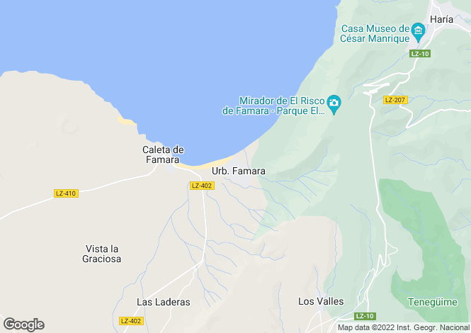 Map for Canary Islands, Lanzarote, Famara