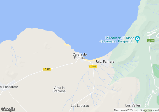 Map for Teguise, Caleta De Famara, Lanzarote, Spain