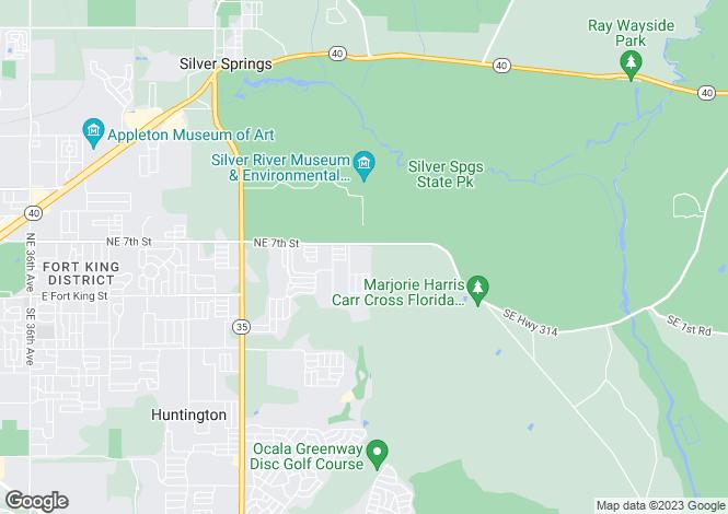 Map for USA - Florida, Marion County, Ocala