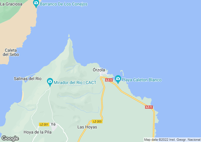 Map for Orzola, Lanzarote, Canary Islands