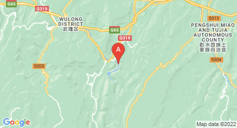 map of Furong Cave (China)