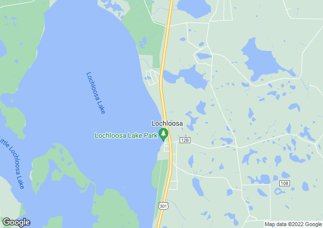 Map for USA - Florida, Alachua County, Hawthorne