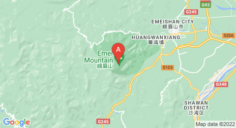 map of Mount Emei (China)