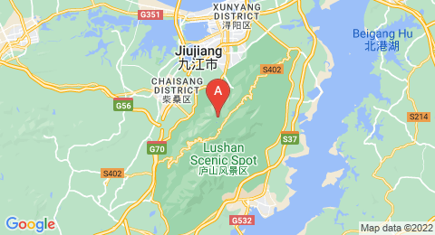map of Mount Lu (China)