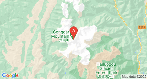map of Mount Gongga (China)